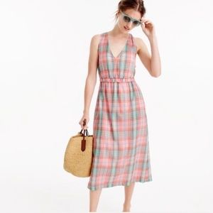 J. CREW Plaid halter dress